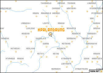 map of Hpalandaung