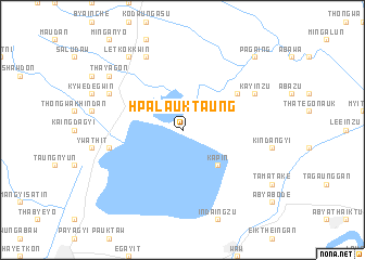 map of Hpalauk Taung