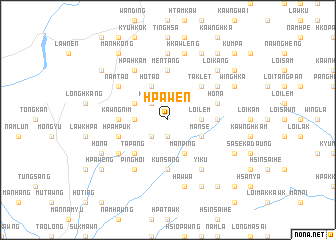 map of Hpa-wen