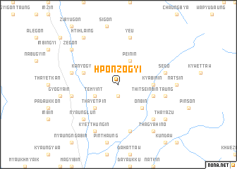 map of Hponzogyi