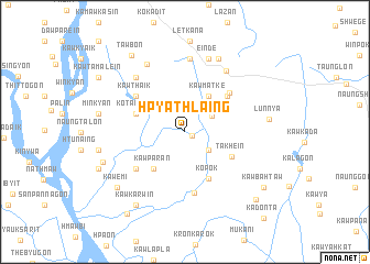 map of Hpyathlaing