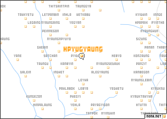 map of Hpyugyaung