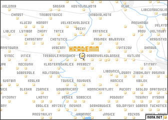 map of Hradenín