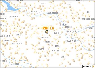 map of Hranča