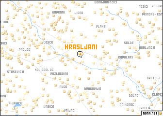 map of Hrašljani
