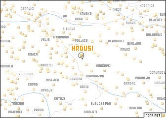 map of Hrđusi