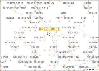 map of Hrežďovce