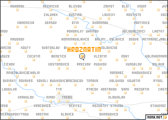 map of Hroznatín