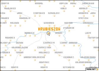 map of Hrubieszów