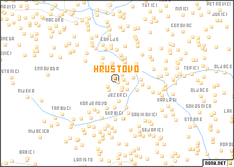 map of Hrustovo