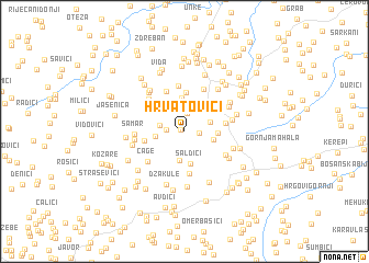 map of Hrvatovići