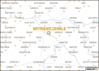 map of Hryniewicze Małe
