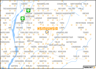 map of Hsin-wu-hsia