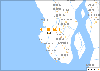 map of Htabingôn