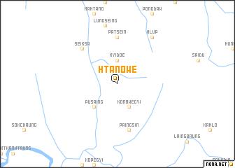 map of Htanowe