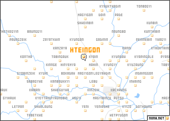 map of Hteingon