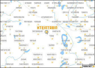 map of Hteintabin