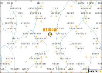 map of Hti-mawn