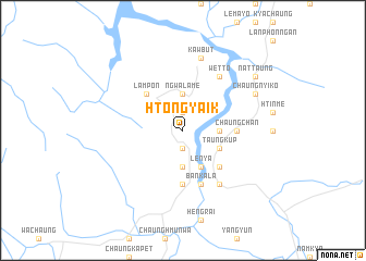 map of Htong-yaik