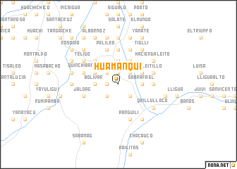 map of Huamanquí
