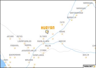 map of Huayán