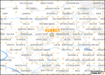 map of Hübben