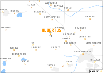 map of Hubertus