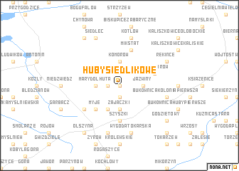 map of Huby Siedlikowe