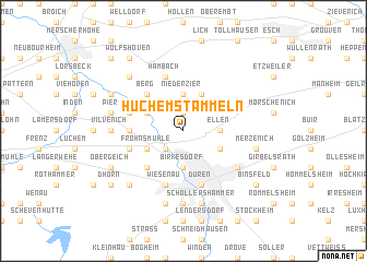 map of Huchem-Stammeln