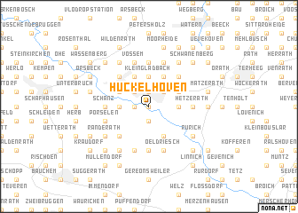 map of Hückelhoven