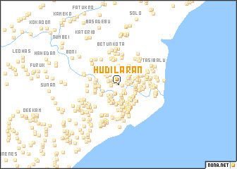 map of Hudilaran
