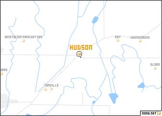 Hudson United States Usa Map Nona Net