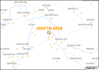 map of Huerta Larga