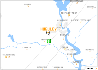 map of Huguley