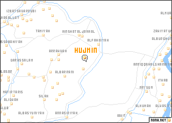 map of Hūjmin