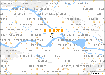 map of Hulhuizen