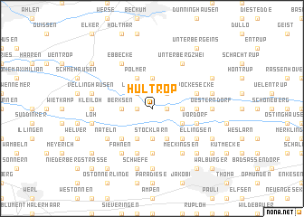 map of Hultrop