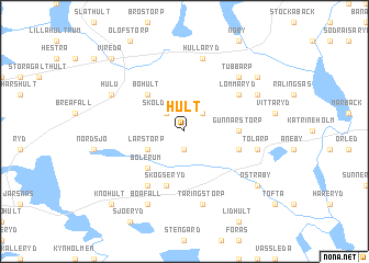 map of Hult