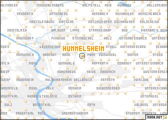 map of Hummelsheim