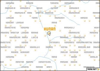 map of Hunan
