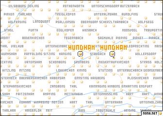 map of Hundham