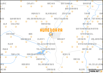 map of Hunedoara