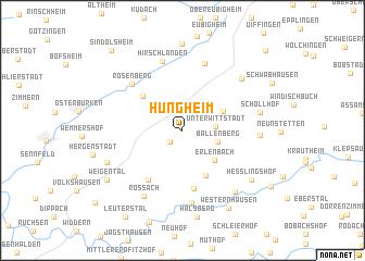 map of Hüngheim