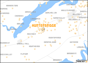 map of Hunters Ridge