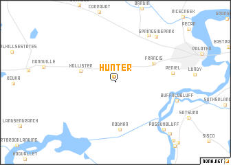 map of Hunter