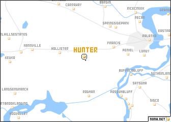 map of Hunter