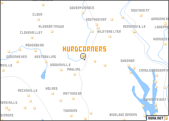 map of Hurd Corners