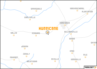 map of Hurricane