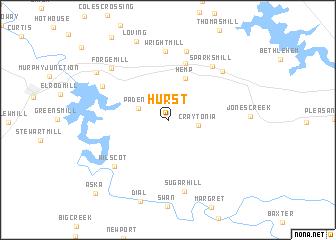 map of Hurst