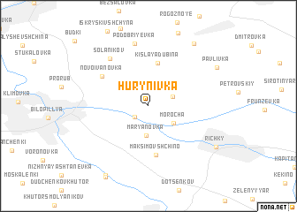 map of Hurynivka